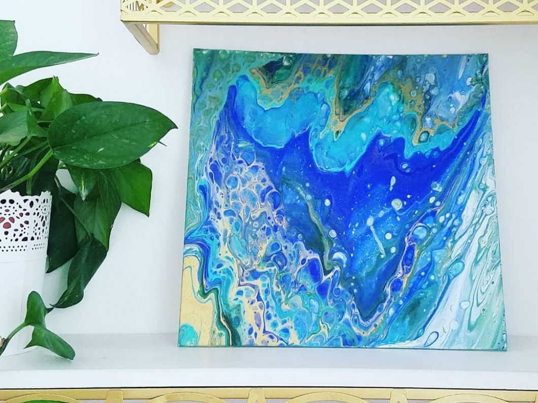 August Paint Night - Fluid Painting
